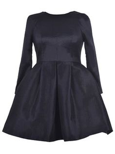 Shop Black Skater Dress with Three Quarter Sleeves from choies.com .Free shipping Worldwide.