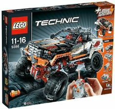 Lego Technic 4X4 Crawler 9398 by LEGO. $240.00. Take on even the toughest terrain with this realistic 4x4 Crawler. Operate the 4-wheel steering and 4-wheel drive using the supplied LEGO Power Functions infrared remote control! Then ride the roughest rocks with the high-performance extreme suspension. This heavy-duty model also features opening doors and top section. Rebuild it into a tough 4x4 off-road truck!. Features motorized 4-wheel steering and 4-wheel drive, extreme sus...
