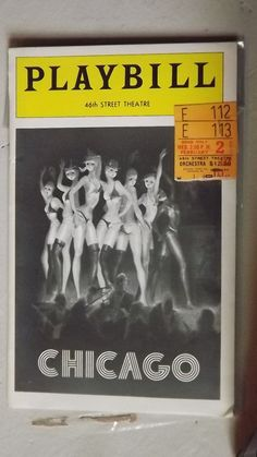 1977 Rare vintage Chicago Play bill w/ticket by OneHouseVintage, $19.99