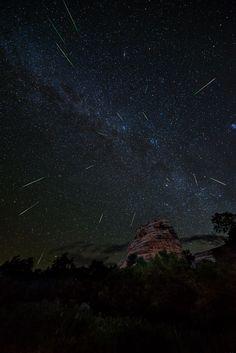 Watching the stars and meteorites.