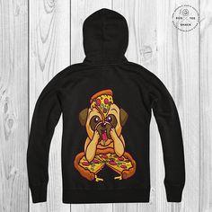 Pug Hoodie Pizza lover hoodie Vegan Hoodie Organic hooded