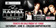 Rascal Flatts - 2020 Tour Dates & Concert Schedule - Live Nation Cassadee Pope, The Band Perry, Upcoming Concerts, Rascal Flatts, Concert Tickets, Special Guest, Dating, Tours, Movie Posters
