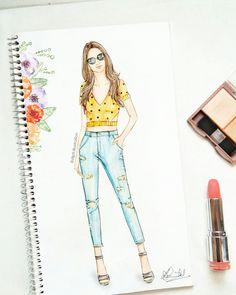 #fashion #sketch #womensfashion #autumn #fallfashion #distressedjeans