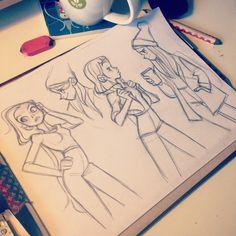 """"""" #girls #sketching"""""""