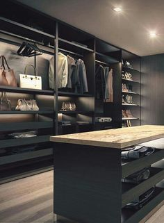 The best of luxury closet design in a selection curated by Boca do Lobo to inspire interior designers looking to finish their projects. Discover unique walk-in closet setups by the best furniture makers out there. Luxury Wardrobe, Luxury Closet, Wardrobe Closet, Closet Bedroom, Closet Mirror, Closet Space, Walk In Closet Design, Wardrobe Design, Closet Designs