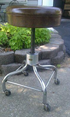 Vintage Pedigo Adjustable Swivel Stool by SandShackStyle on Etsy