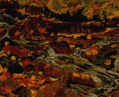 Leaves in the Brook, 1919 by J. E. H. MacDonald. Post-Impressionism. landscape