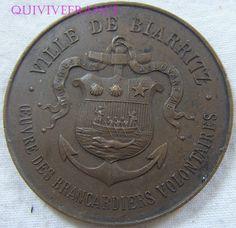 MEDAILLE BRANCARDIERS VOLONTAIRES DE BIARRITZ 1914-1918
