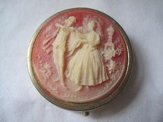 Vintage Cameo Pill Box.