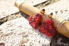 Cuori di rose rosse #fimo #love #rose #red #heart