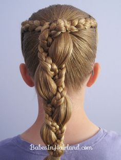 Braid Wrapped Ponytail | Babes In Hairland