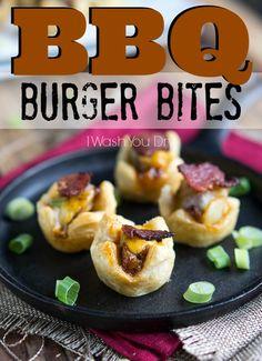 BBQ Burger Bites - I Wash You Dry
