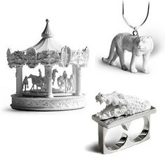 A Carousel Clock & New Animal Jewelry from Hao Shi Design