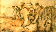 Insurgent Peasants - 1907 Social Realism, Post Impressionism, Art Database, Insurgent, History, Artwork, 1 Februarie, Image, Paintings