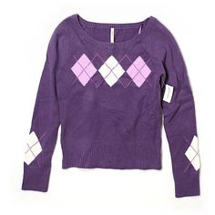 Pre-owned Aeropostale Pullover Sweater Size 12: Purple Women's Tops ($17) ❤ liked on Polyvore featuring tops, sweaters, purple, aeropostale tops, sweater pullover, purple sweater, purple pullover and purple pullover sweater