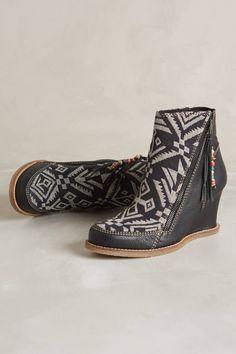 competitive price f790f 06b83 Buyamba Tapestry Wedge Boots love love these boots. Wedge Boots, Bootie  Boots, Ugg
