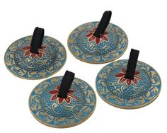 DharmaObjects 2 Pairs OM Pro Brass Fingers Cymbal Zills Belly Dancing Free Silk Pouch (Turquoise), 2016 Amazon Hot New Releases Drums & Percussion  #Musical-Instruments