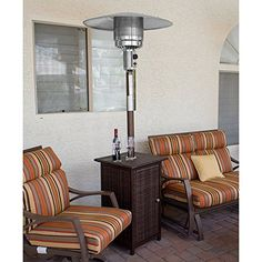 AZ Patio Heater Tall Square Wicker Heater with Wheels