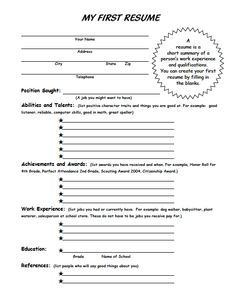 Ms. Sepp's Counselor Corner: My First Resume and Career Resources for 4th and 5th grade