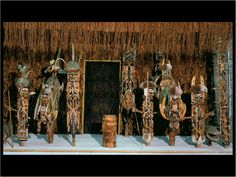 "Malagan Display Medina village, New Ireland, Papua New Fuinea. c. 1930. Height 82 5/8"" width 137 3/4"" Museum fur Volkerkunde, Basel, Switzerland.- Google Search"