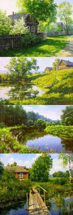 Russian Landscape Paintings By Dmitry Levin - Fine Art Blogger