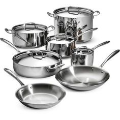 Free 2-day shipping. Buy Tramontina 12-Piece Tri-Ply Clad Cookware Set, Stainless Steel at Walmart.com