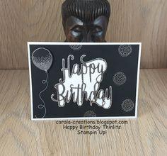 Carola Creations: Stampin'Up! Happy Birthday  Hallo, Dit kaartje heb...