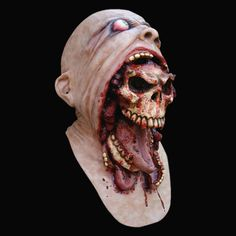 Buy Bloody Zombie Mask Melting Face Adult Latex Costume Walking Dead Halloween Scary at Wish - Shopping Made Fun Maske Halloween, Scary Halloween Masks, Scary Mask, Scary Halloween Costumes, Halloween Horror, Creepy Clown, Halloween Items, Halloween 2020, Halloween Party