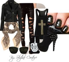 """Concert Outfit? We think yes!"" by skylinecouture on Polyvore - With other shoes... I wouldn't survive in those! :)"