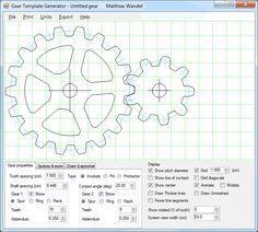 Gear template generator program