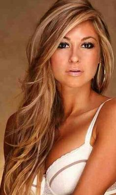 Carmel With Blonde And Brown Hair Color Mix. I will get this done in October...when my current mistake fades out. =)