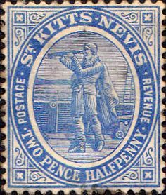 1905 St Kitts - Nevis Christoper Columbus SG 17 Fine Used SG 17 Scott 17 Other Old Stamps for sale here