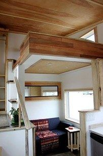Actually, add a loft anywhere. | 31 Tiny House Hacks To Maximize Your Space
