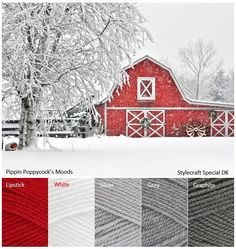 New Yarn Moods Boards Added! Color Balance, Color Harmony, Yarn Color Combinations, Color Schemes, Christmas Colour Schemes, Christmas Colors Palette, Palette Design, Colour Pallette, Winter Colors