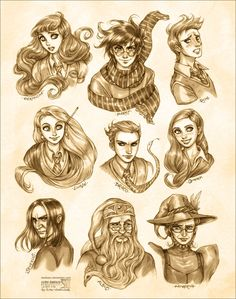 Harry Potter: Portraits by *daekazu on deviantART