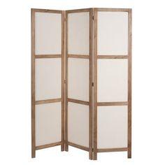Raumteiler PLAISANCE aus Holz und Stoff, B 125cm