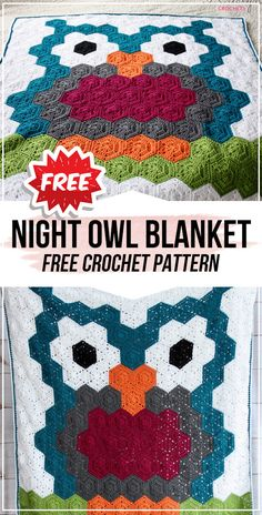 crochet Night Owl Crochet Blanket free pattern crochet Night Owl Crochet Blanket free pattern - easy crochet blanket pattern for beginners Knitting works add time when. Crochet Owl Blanket Pattern, Owl Crochet Patterns, Easy Crochet Blanket, Crochet For Beginners Blanket, Crochet Owls, Owl Patterns, Knitted Blankets, Crochet Ideas, Crochet Tutorials