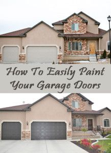 How to easily paint your garage doors. We used a few tips that made this so fast & easy!