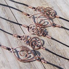 Copper & Various Stone Bracelets by wild soul studio, via Flickr
