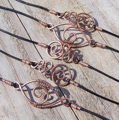 Copper & Various Stone Bracelets by wild soul studio, via Flickr