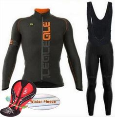 Look for cheap price Winter Thermal Ale Cycling Clothing 2017 Men Fleece  Jersey Bike Bicycle suits Cycling Kit Green Yellow Red Blue Ropa Ci. 77700b184