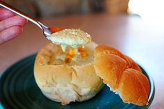 Broccoli Cheese Soup in a bread bowl by Ree Drummond / The Pioneer Woman, via Flickr