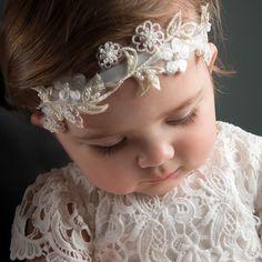 Lola Velvet Headband - Baby Beau and Belle Lace Christening Gowns, Christening Headband, Baptism Gown, Girl Christening, Lace Headbands, Baby Girl Headbands, Blessing Dress, Baby Girl Baptism, Baby Girls