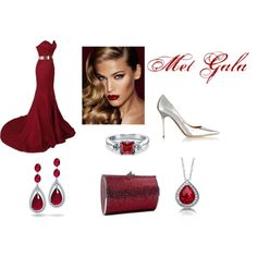 Met Gala by fresh-n-new on Polyvore featuring Jimmy Choo, Judith Leiber, Bling Jewelry, BERRICLE and Charlotte Tilbury