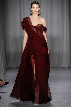 Marchesa. This is interesting enough that I want to see if Cate Blanchett can carry it off. It would be great on her skin. The rest of the marchesa show was craycray and horrible.
