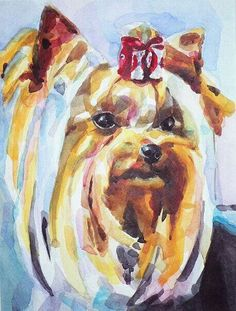 More On Yorkshire Terrier Art Yorkshire Terrier Haircut, Yorkshire Terrier Puppies, Cute Dogs Breeds, Yorkie Puppy, Toy Puppies, Dog Chews, Scottish Terrier, Terrier Mix, Pastel
