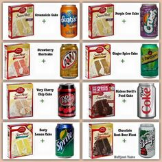 Recipe Soda cake no eggs, no oil. Just add a can of soda to the cake mix. and bake per directions on cake box. Rockcrok Recipes, Pampered Chef Recipes, Baker Recipes, Ww Recipes, Sweet Recipes, Recipies, Dump Recipes, Simple Recipes, Quick Recipes