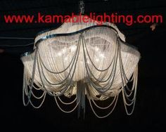 Modern chain chandelier decoration project lights ka201 on made modern pearl chain chandelier project lamp ka1219 on made in china aloadofball Choice Image