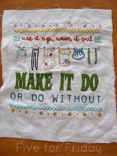 I really want to learn embroidery. Not this particular example, just in general.