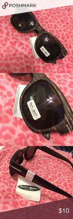 Cute wood - effect sunglasses  100%UV Surf n Sport shades ... New - never worn, zero scratches  Surf n sport Accessories Glasses